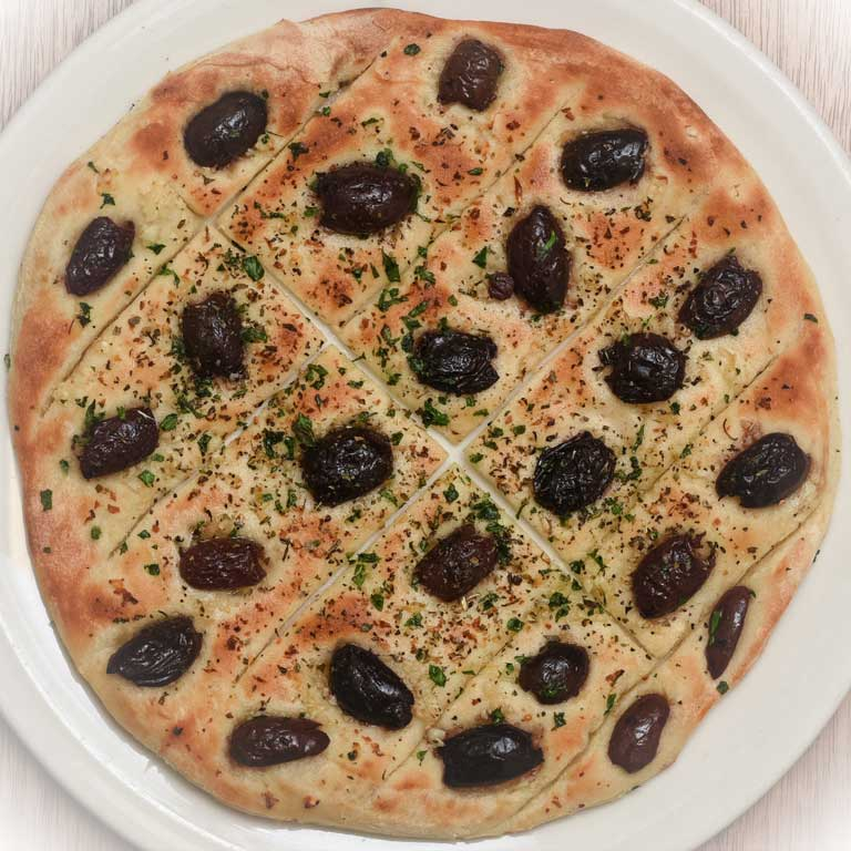 Garlic Bread with Olives